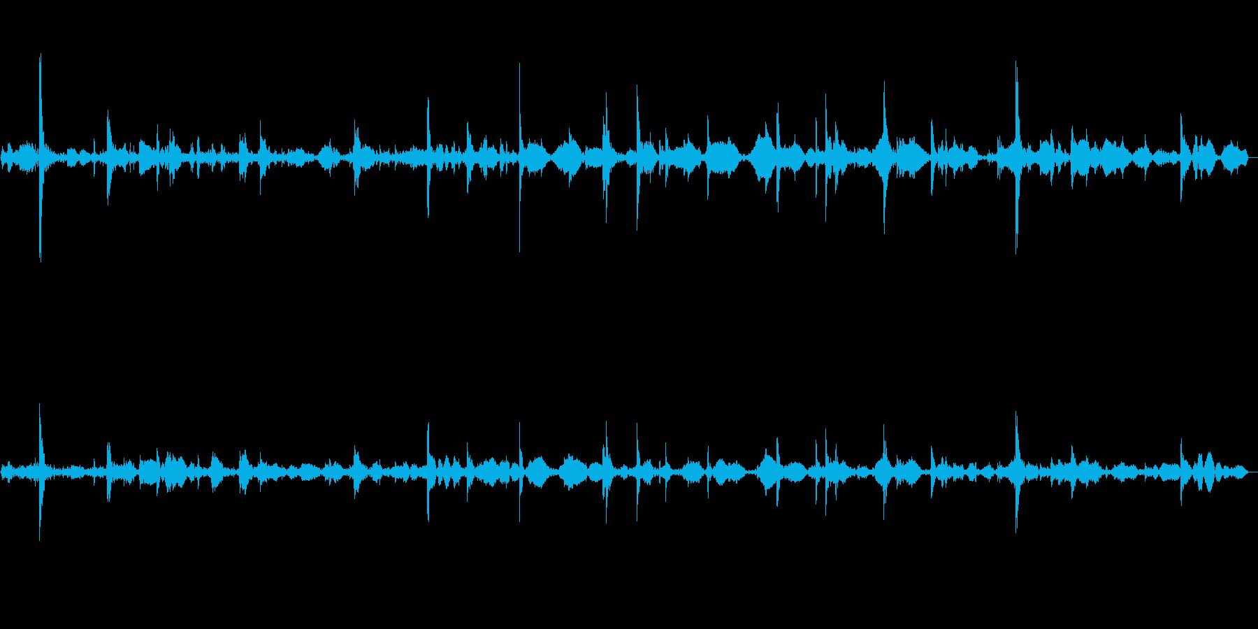 ポワポワ・・・(柔らかい水滴音)の再生済みの波形