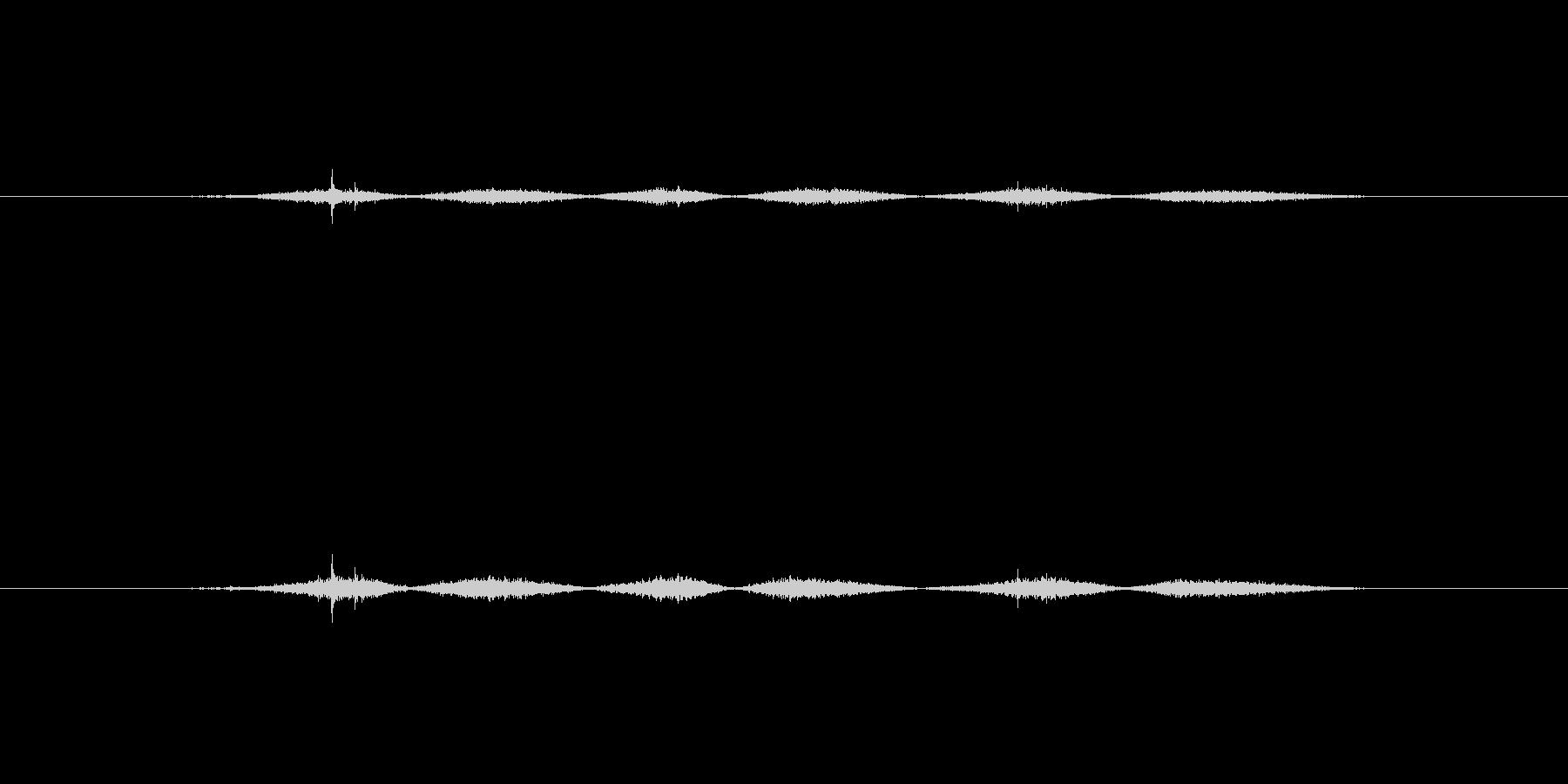 【生音】触れる・布 - 3 「ごしごし…の未再生の波形