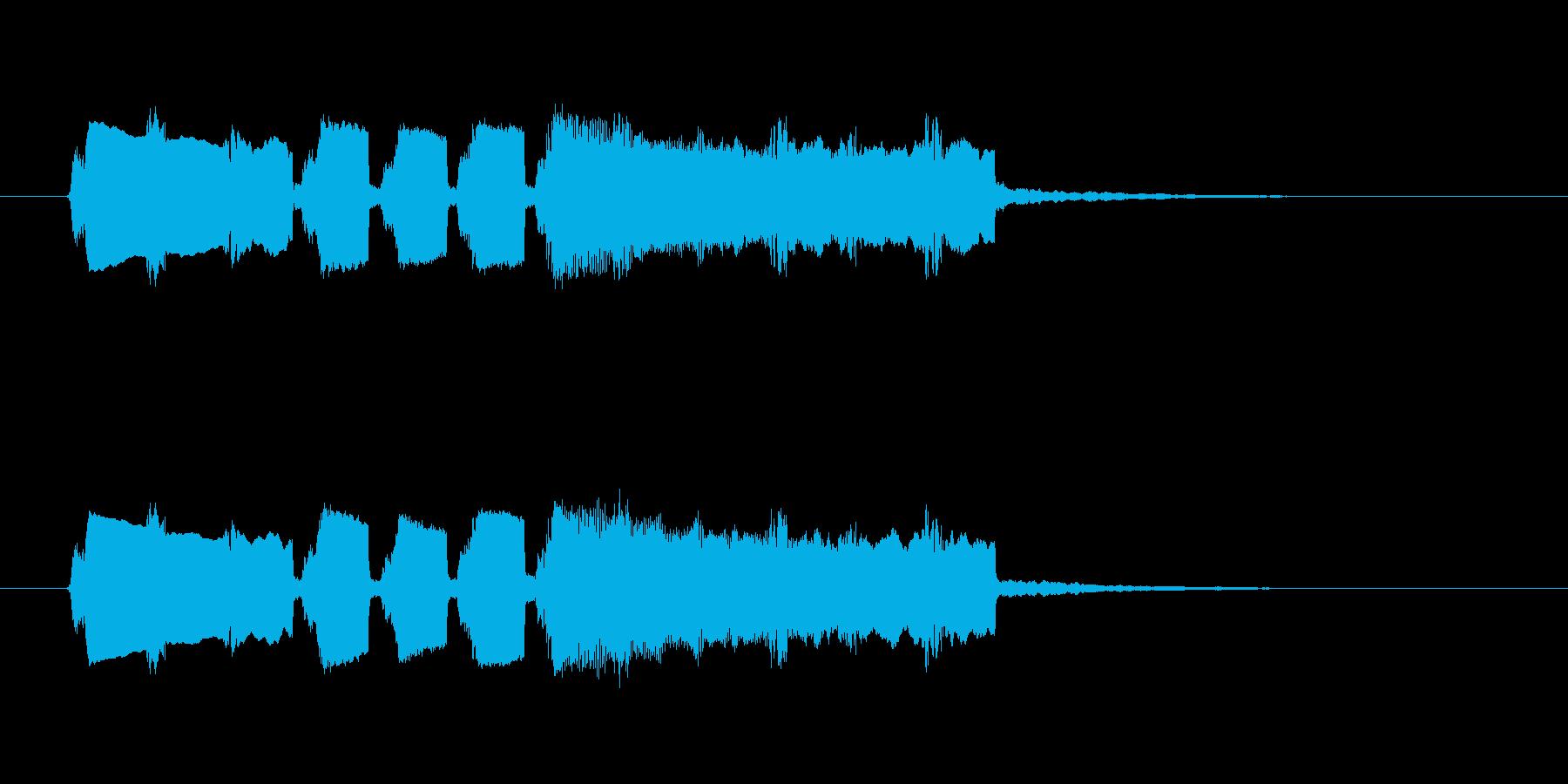 フィーンというひょうきんなシンセ音の再生済みの波形