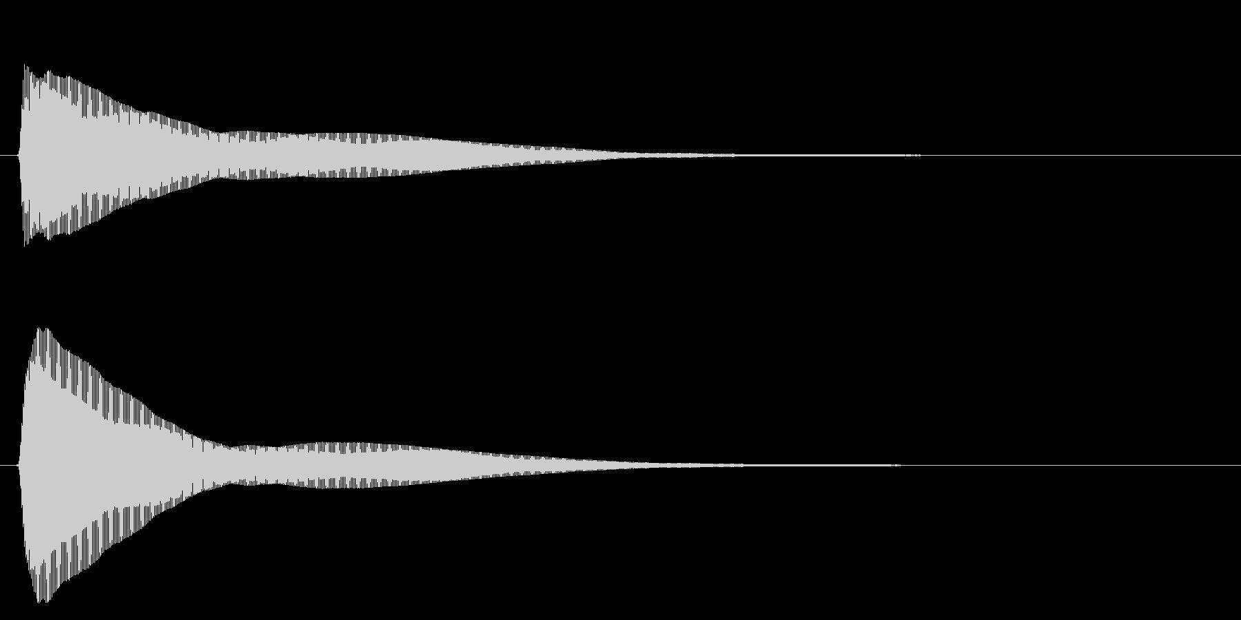 マレット/シンプル/決定音の未再生の波形