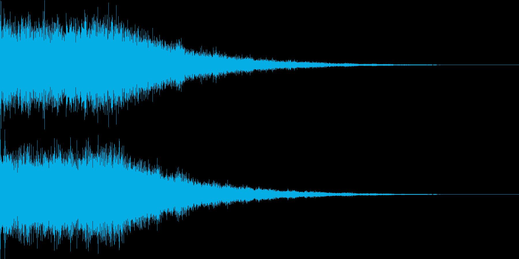 氷魔法03(冷気属性魔法)の再生済みの波形