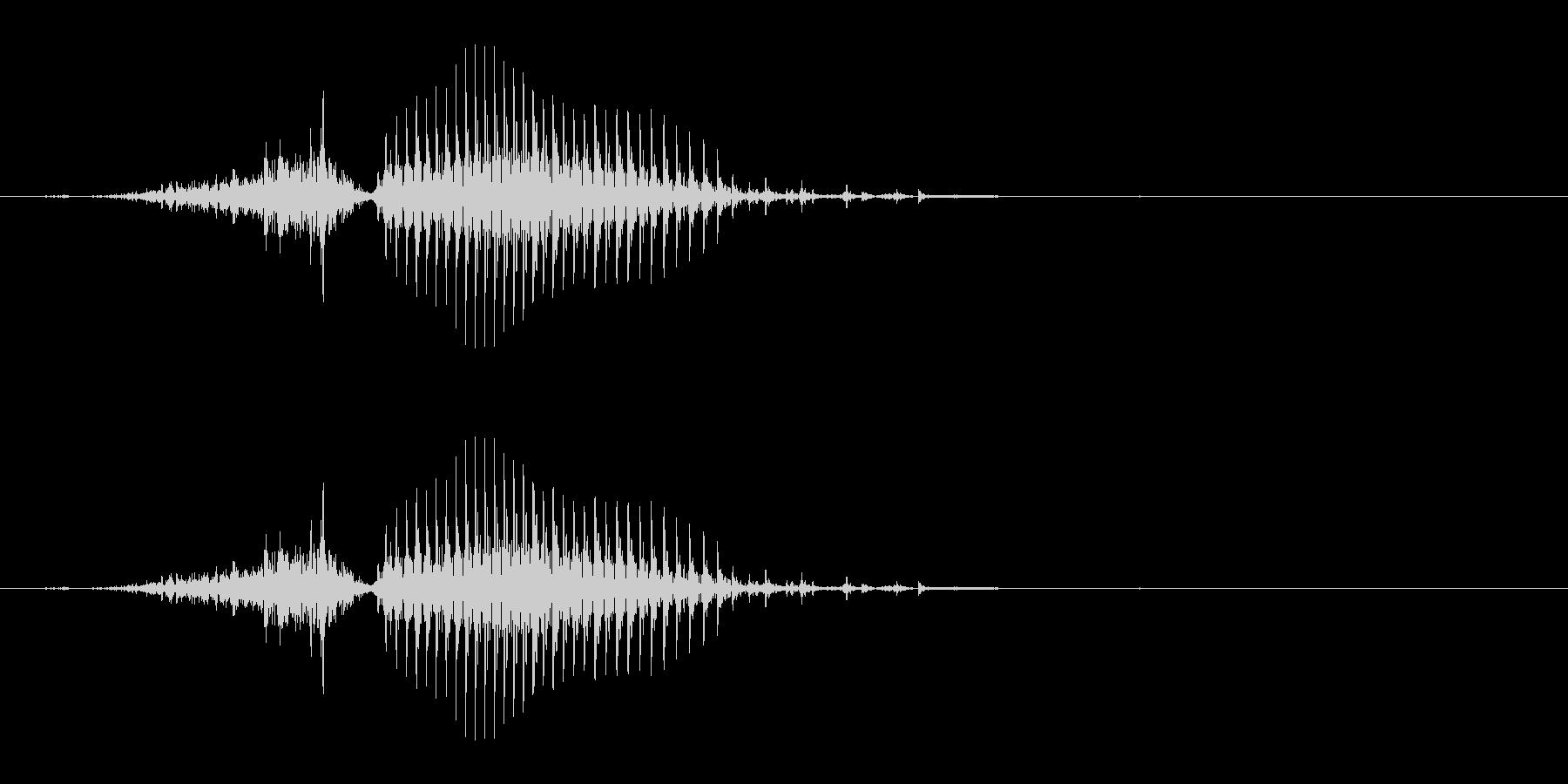 西(シャー)[麻雀]の未再生の波形