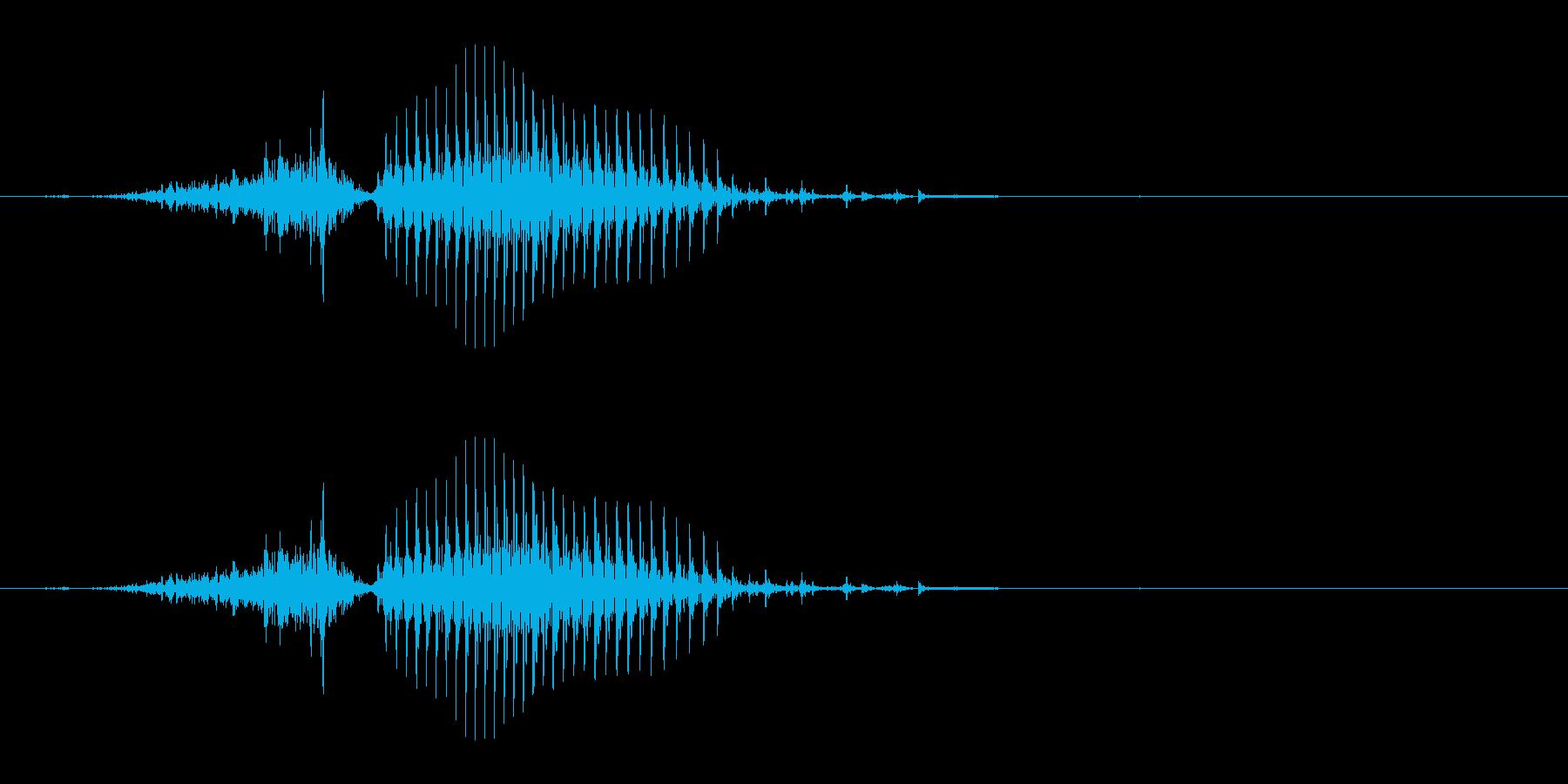 西(シャー)[麻雀]の再生済みの波形