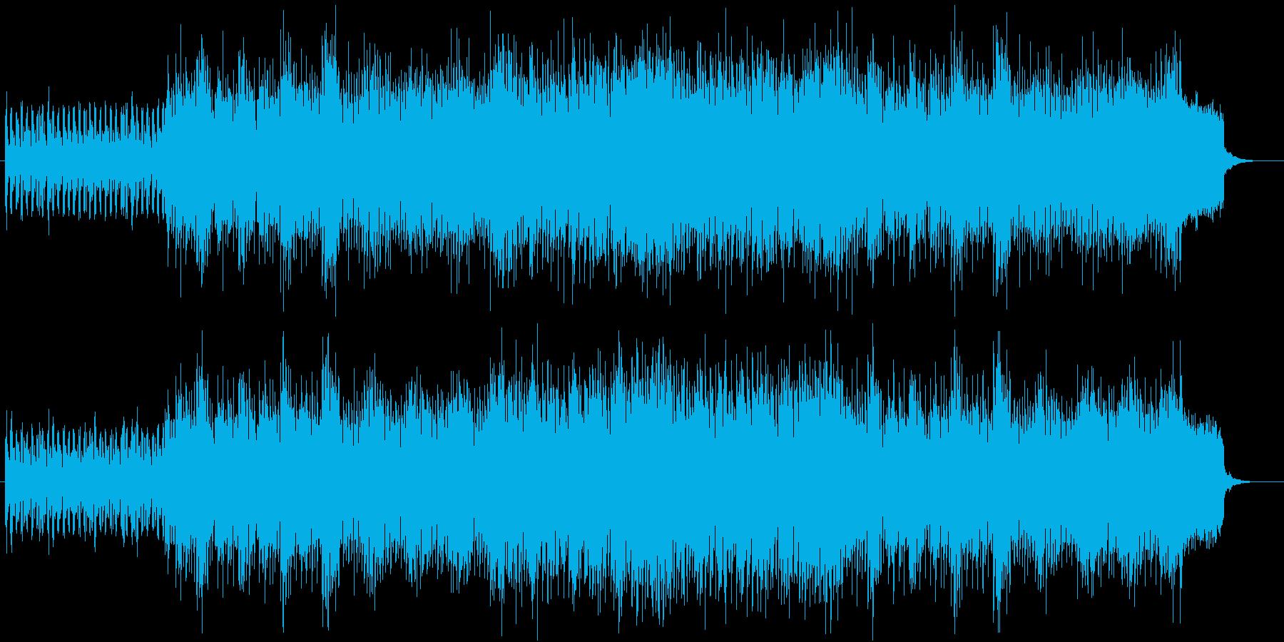 オシャレなユーロビート(マイナー調)の再生済みの波形