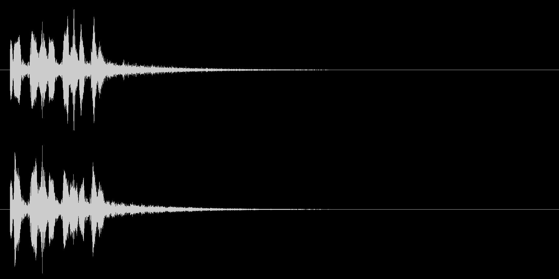 キュッポキュッポキュッポ(ビーム音)の未再生の波形