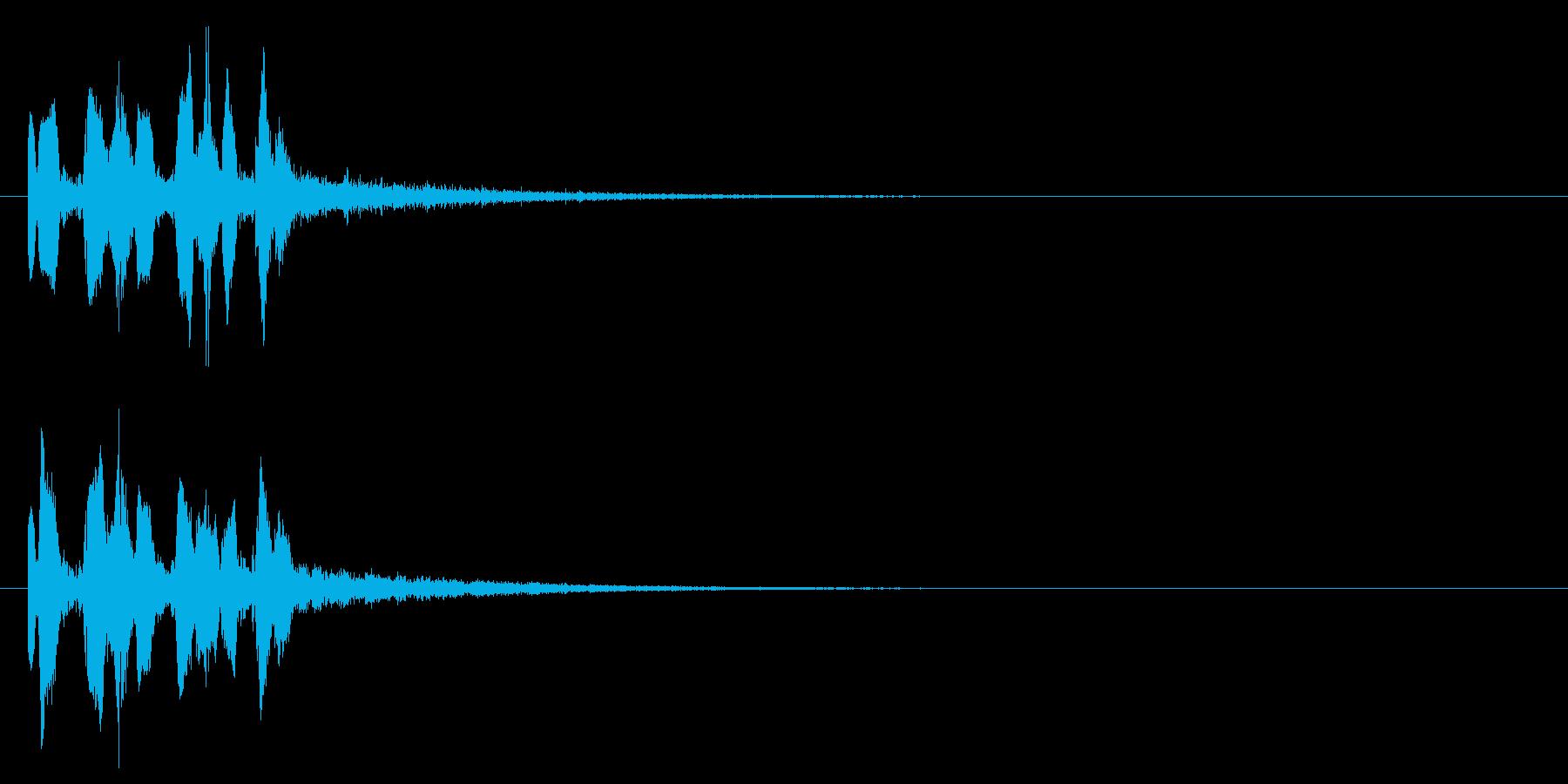 キュッポキュッポキュッポ(ビーム音)の再生済みの波形