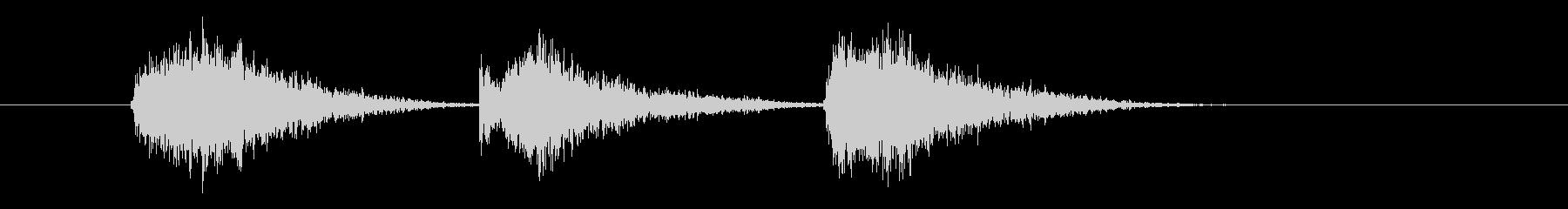 ゲーム等、開始前カウント(3-2-1)Iの未再生の波形