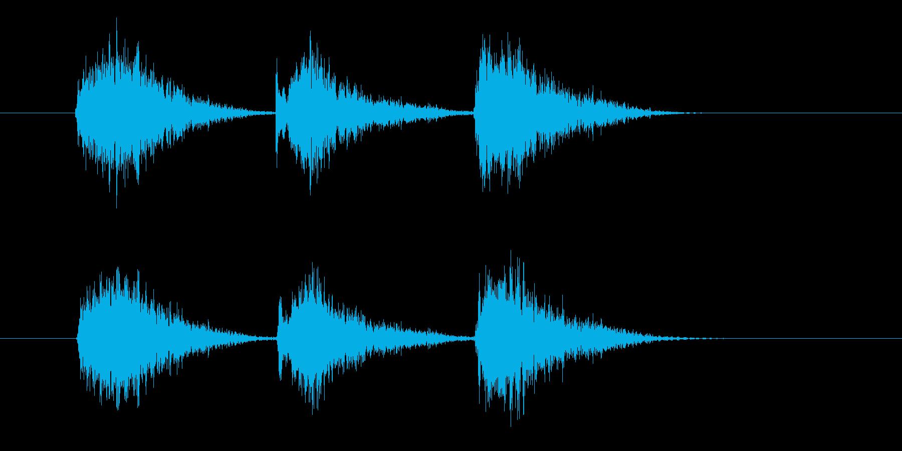 ゲーム等、開始前カウント(3-2-1)Iの再生済みの波形