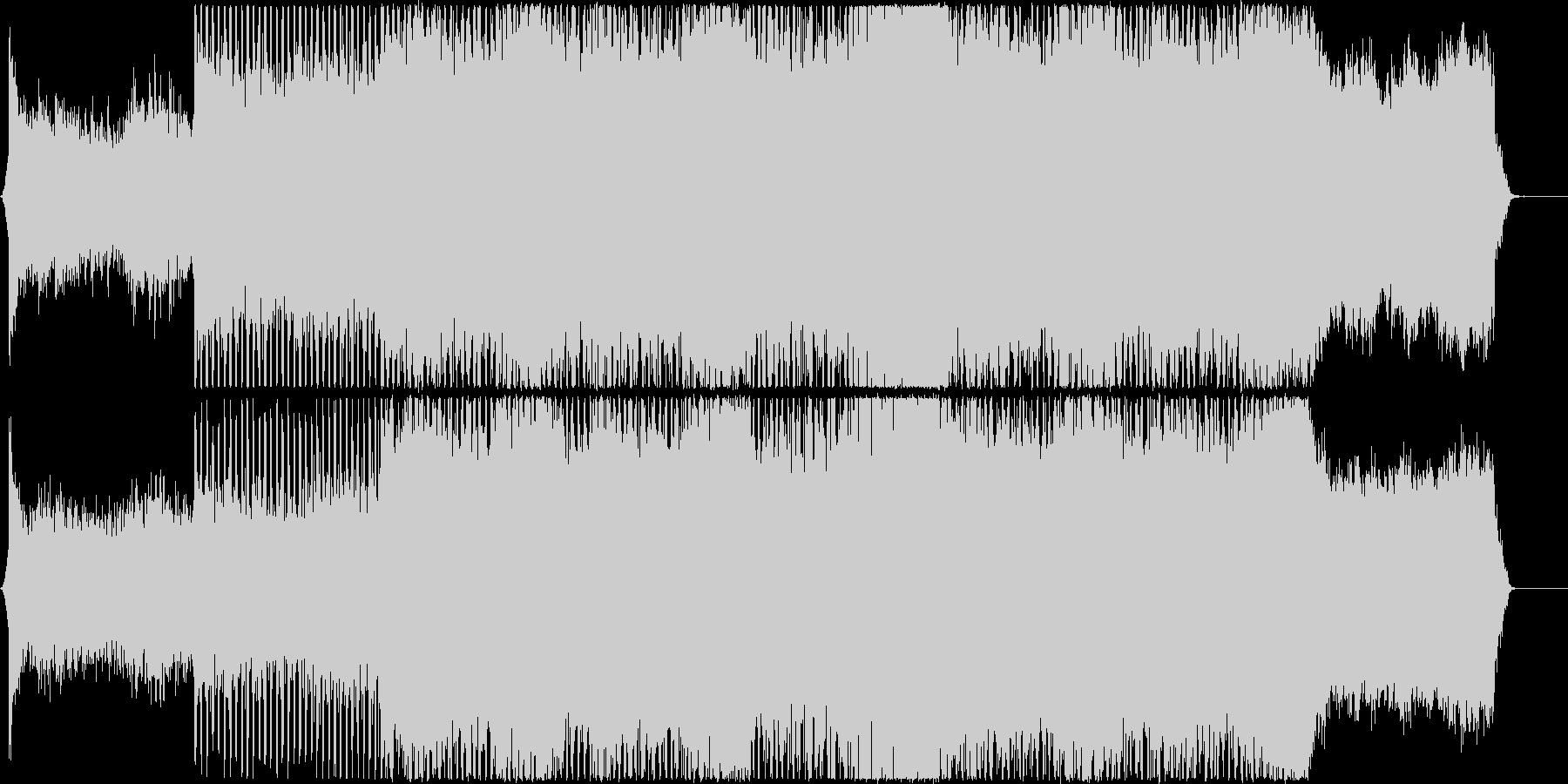 疾走感のある映像、CMにの未再生の波形