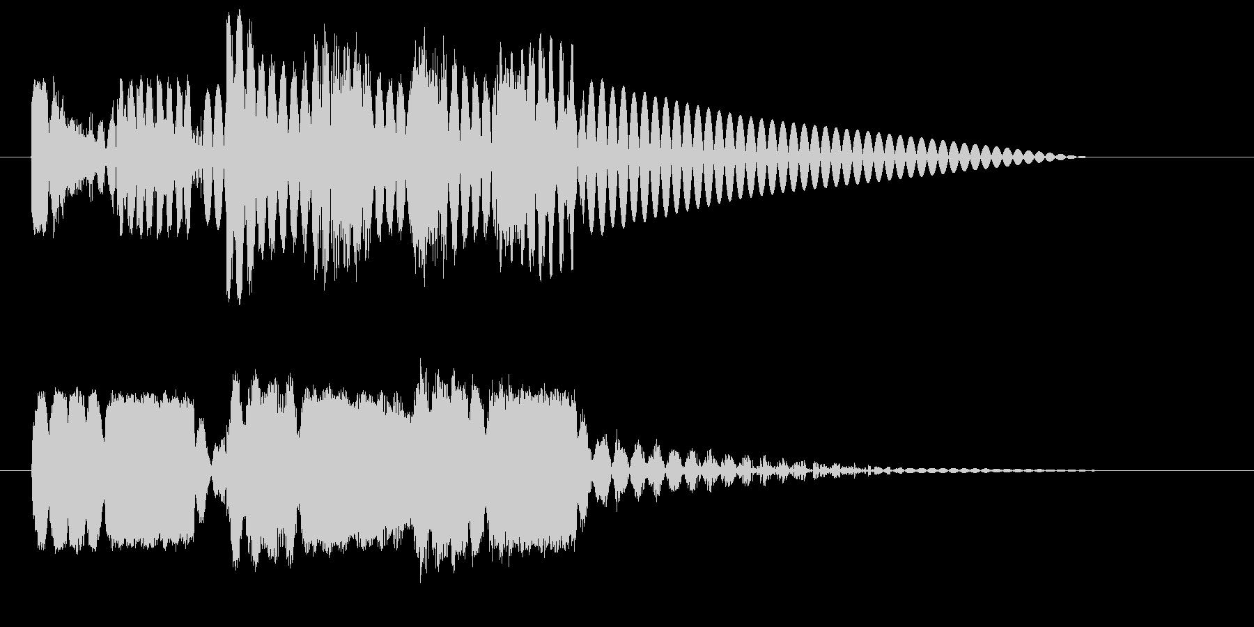 ロボットサウンド 機械音9  の未再生の波形
