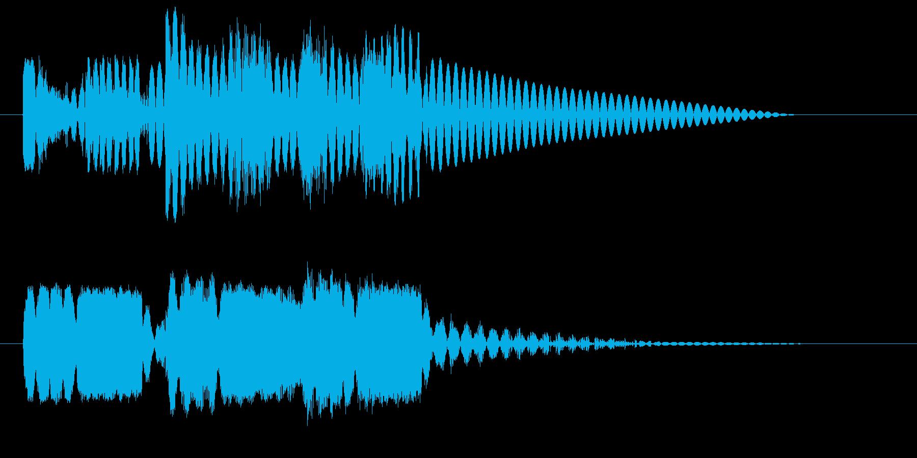 ロボットサウンド 機械音9  の再生済みの波形