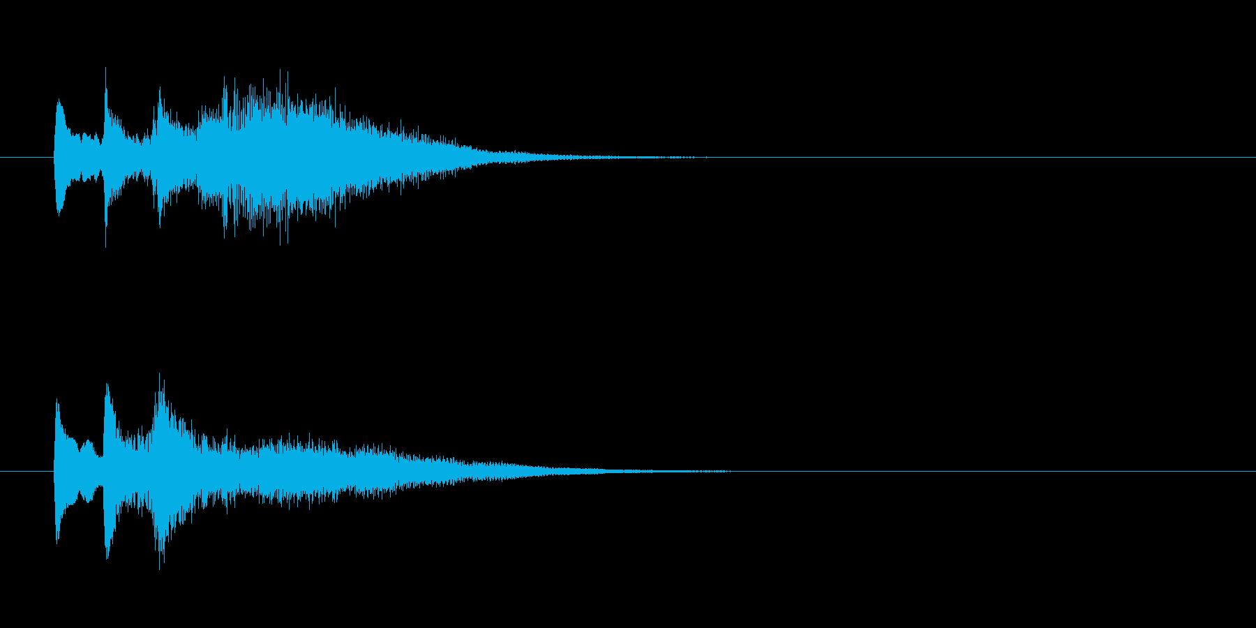 サスペンスドラマ風アンビエントのジングルの再生済みの波形