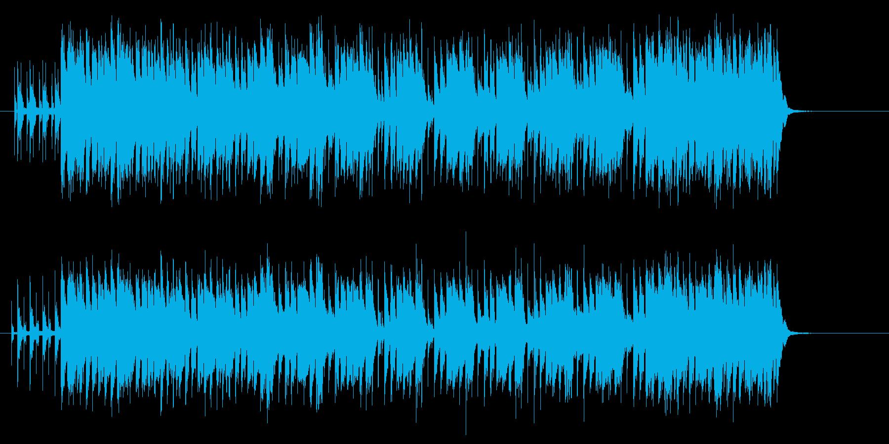 軽快でキャッチーなゲームBGMジングルの再生済みの波形