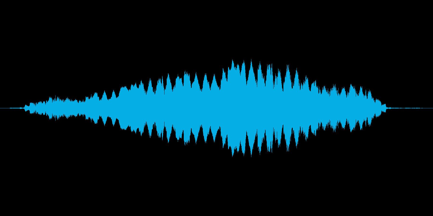 (おばけが悲しむ声)の再生済みの波形