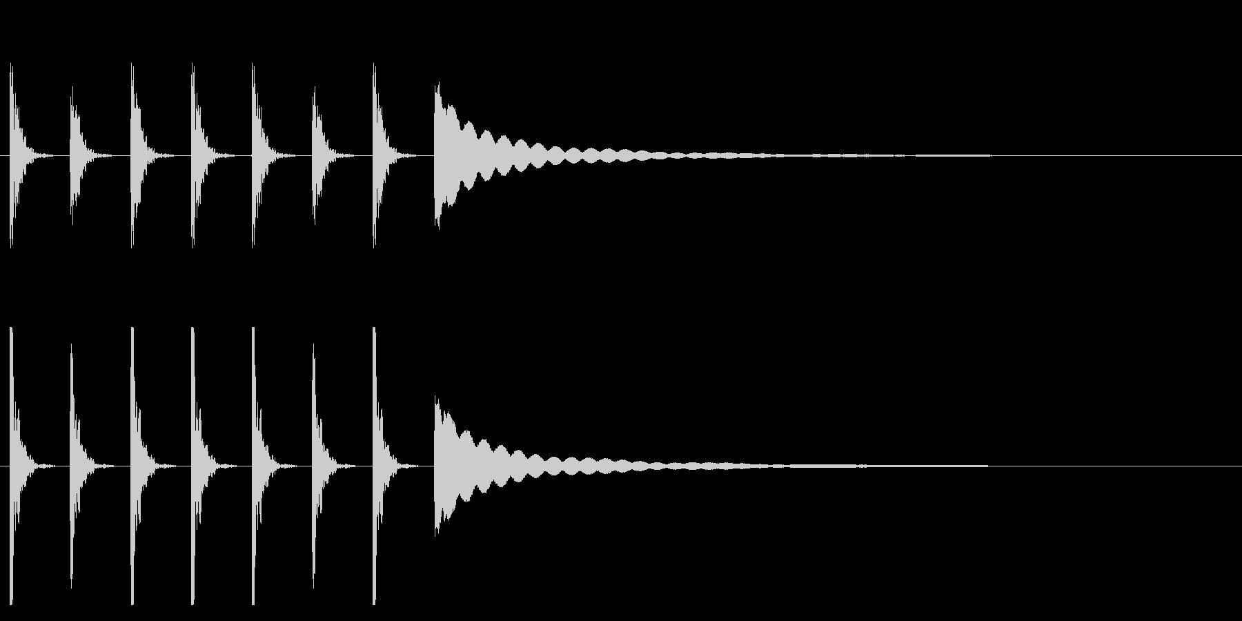 ポクポクチン1木魚シンキングタイム5秒の未再生の波形