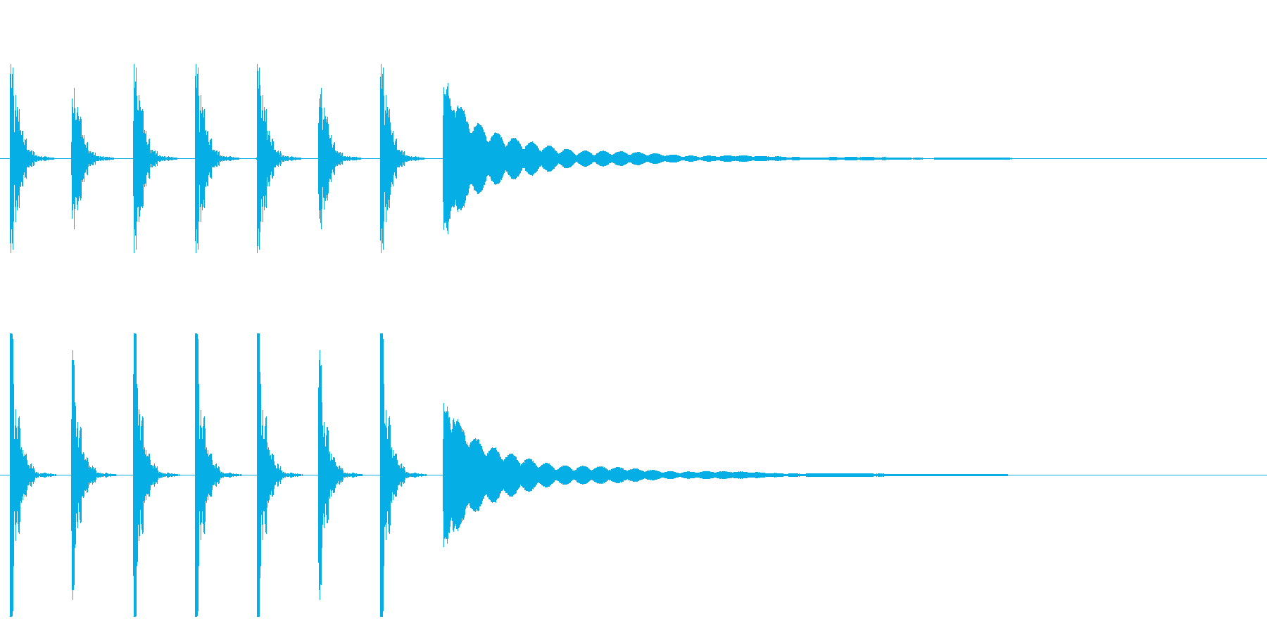 ポクポクチン1木魚シンキングタイム5秒の再生済みの波形
