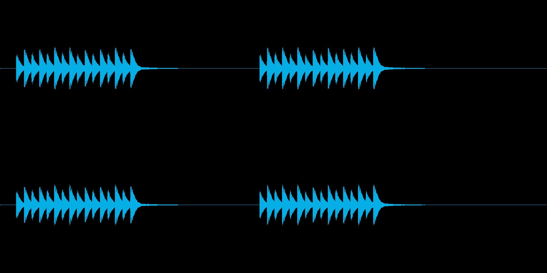 スマホ系コール音の再生済みの波形