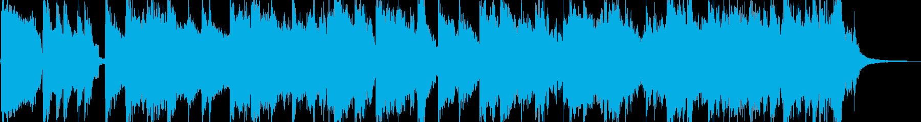 鍵盤メインの気だるいゴスペル風BGMの再生済みの波形