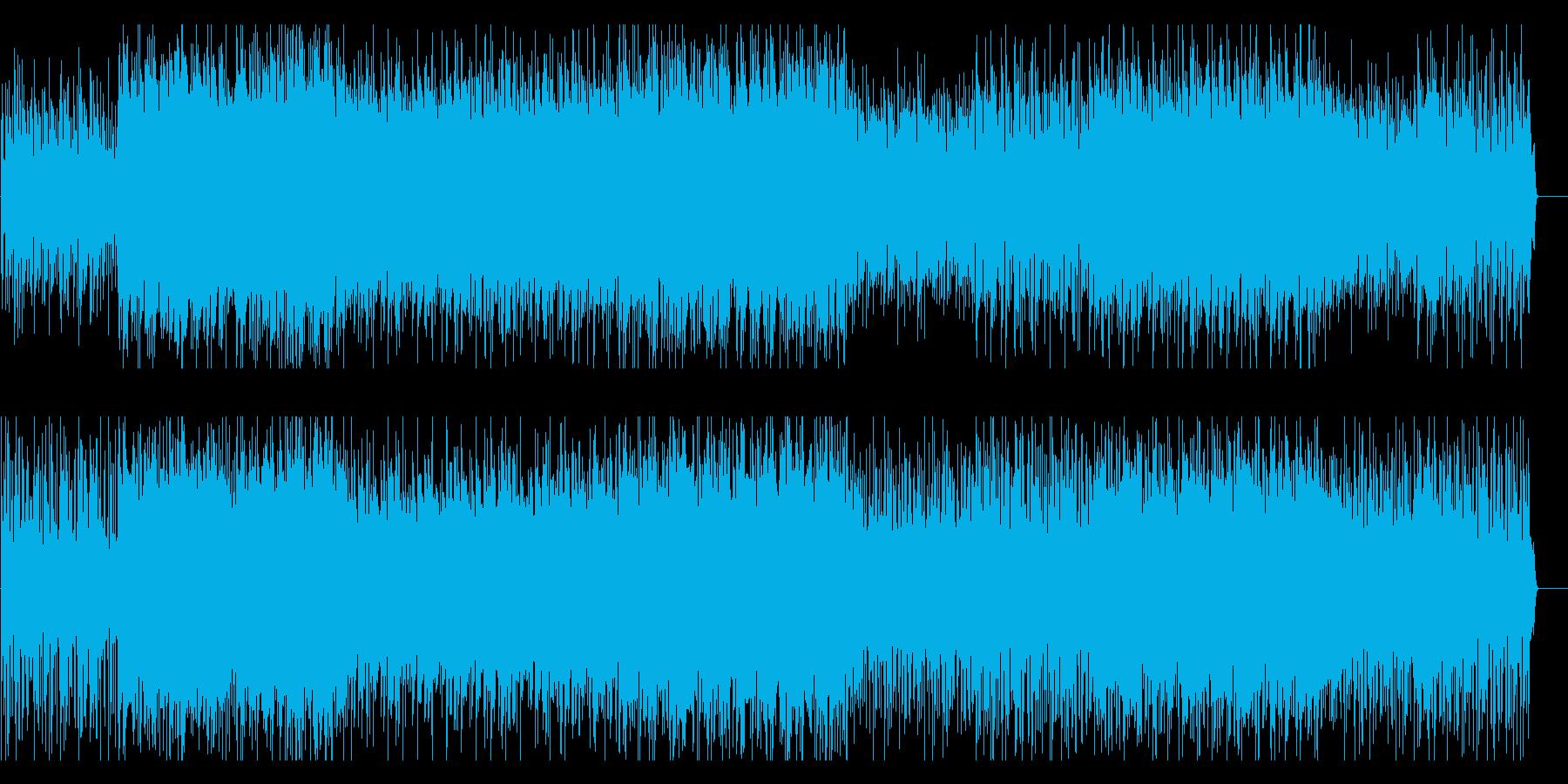 異国情緒ある淡々として不安なBGMの再生済みの波形