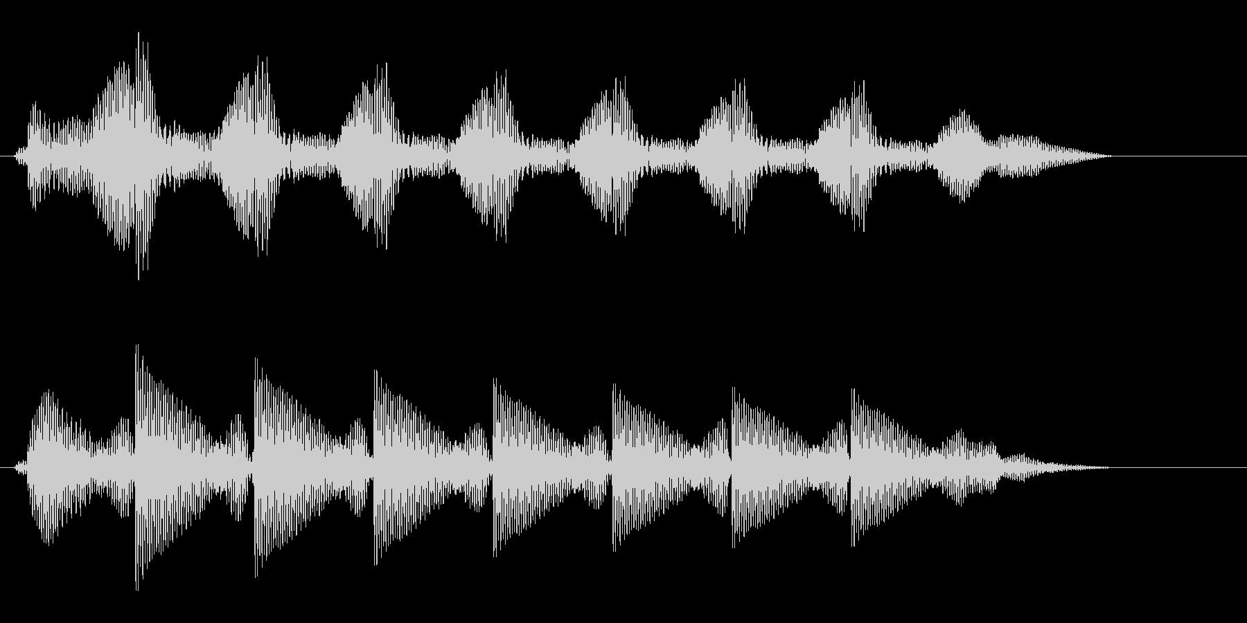 タタタタタタという文字の打ち込み音の未再生の波形