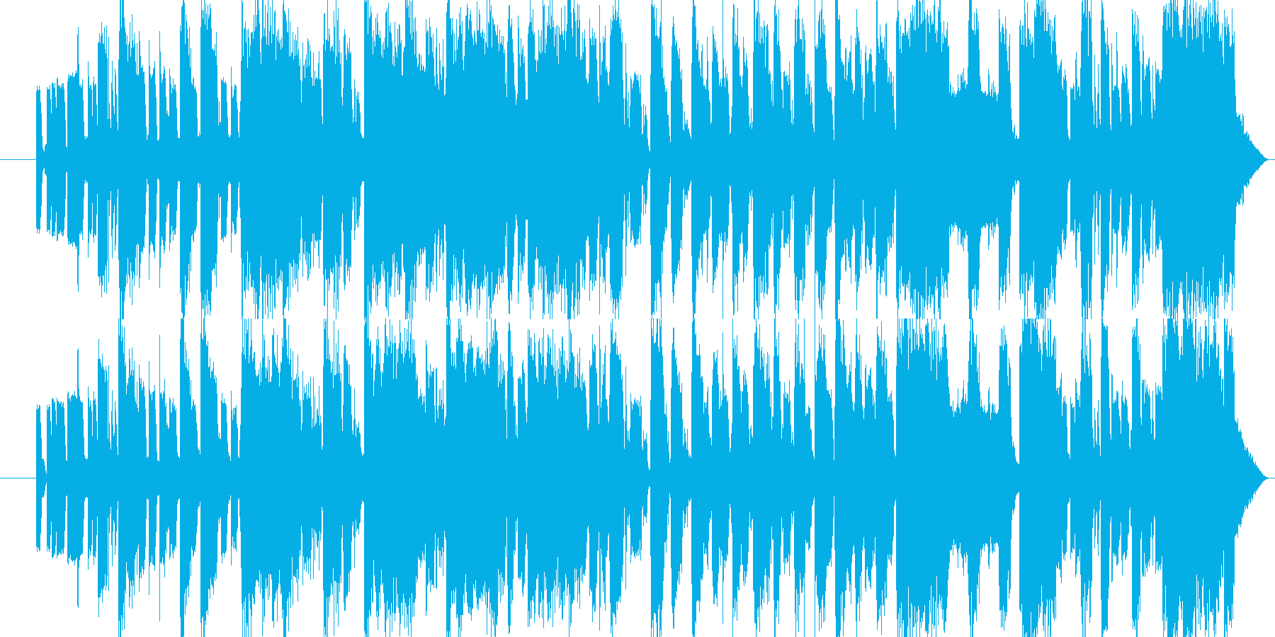 アーケードゲーム風をTrapのリズムでの再生済みの波形