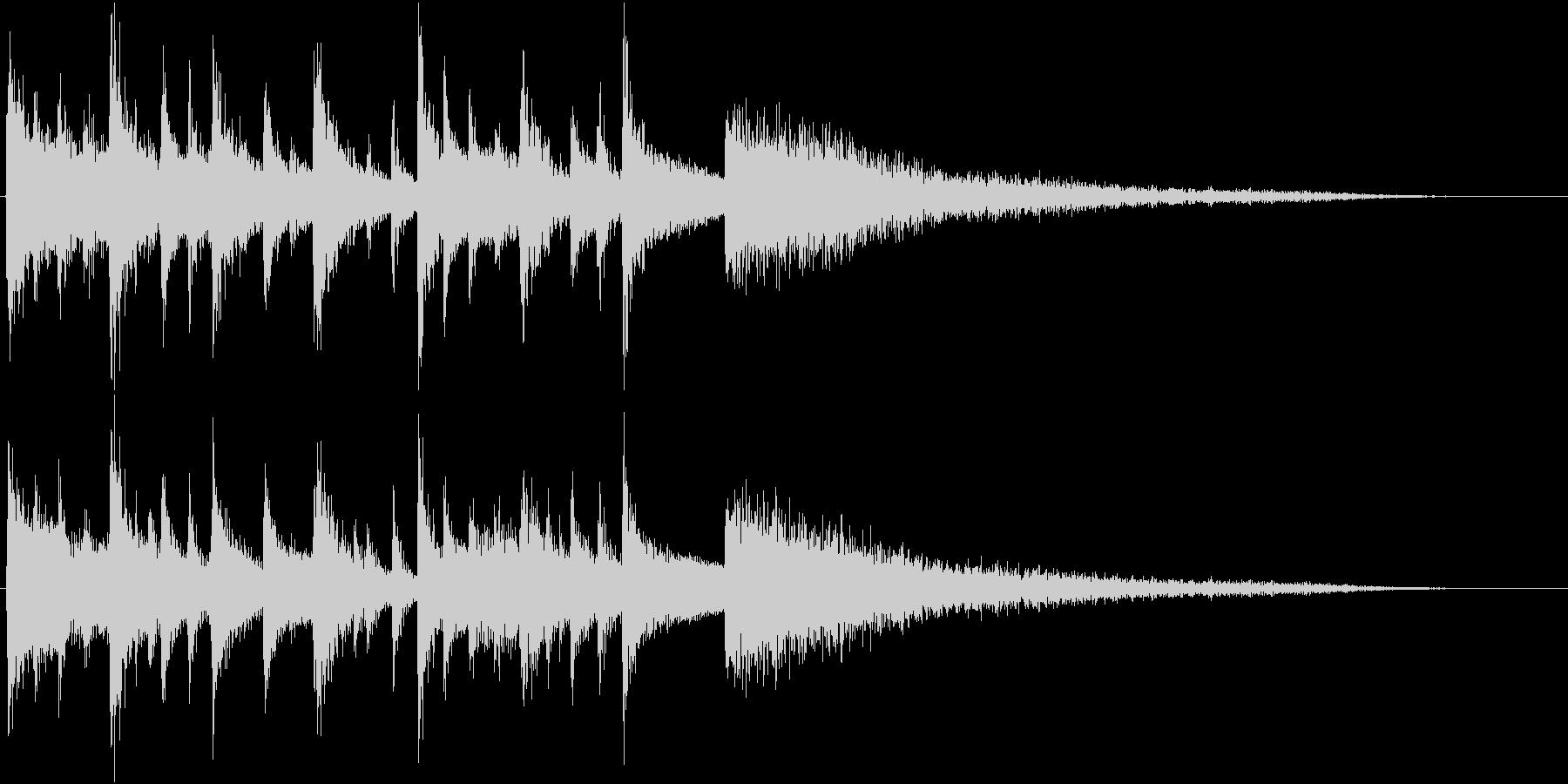中華風のオリエンタル・リフ+Perの未再生の波形