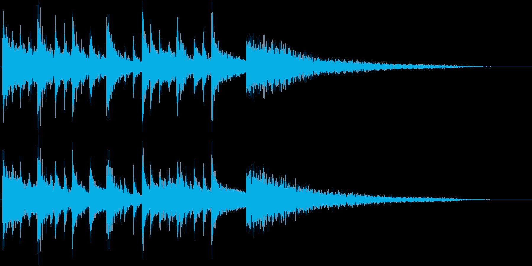 中華風のオリエンタル・リフ+Perの再生済みの波形
