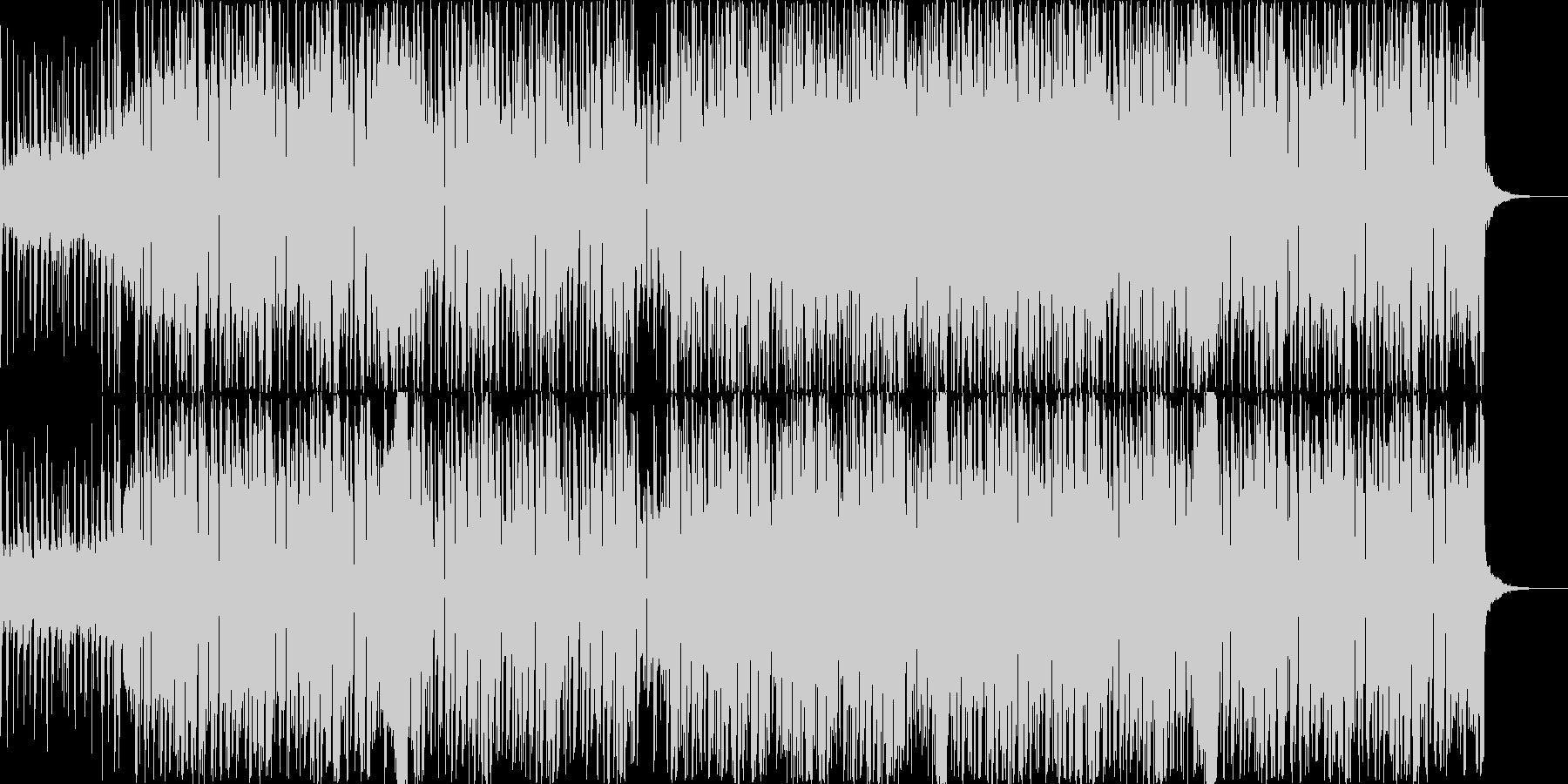 明るい映像に合うポップな南国風ハウスの未再生の波形