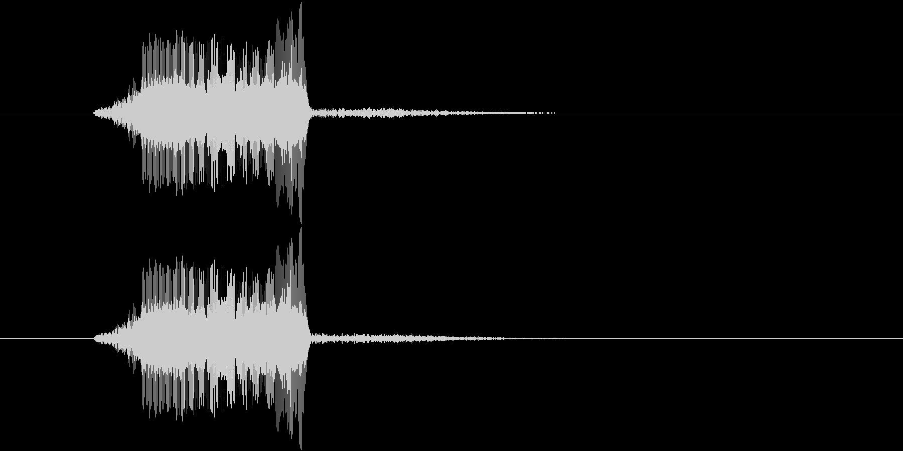 キュッっとハムスターの鳴き声みたいな音の未再生の波形