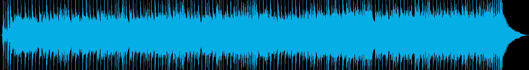 エレキギターによるバラードの再生済みの波形