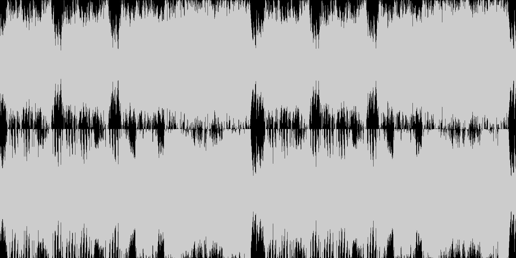 飛翔感のあるオーケストラの未再生の波形