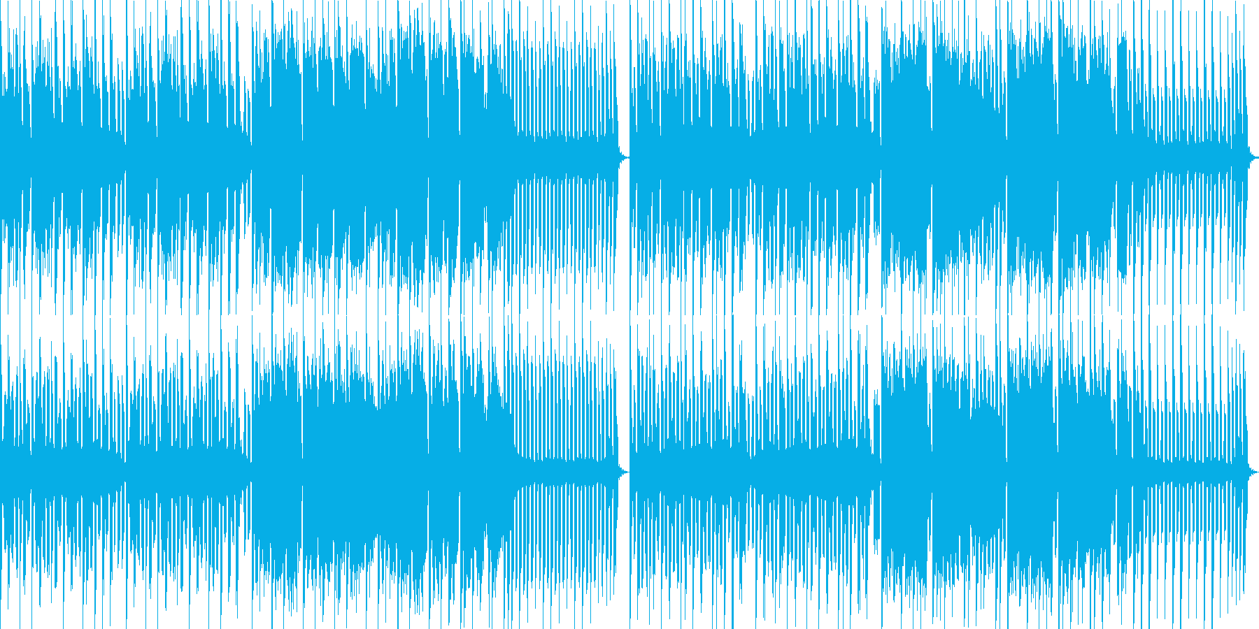 スーパーファミコン風アクション系BGMの再生済みの波形