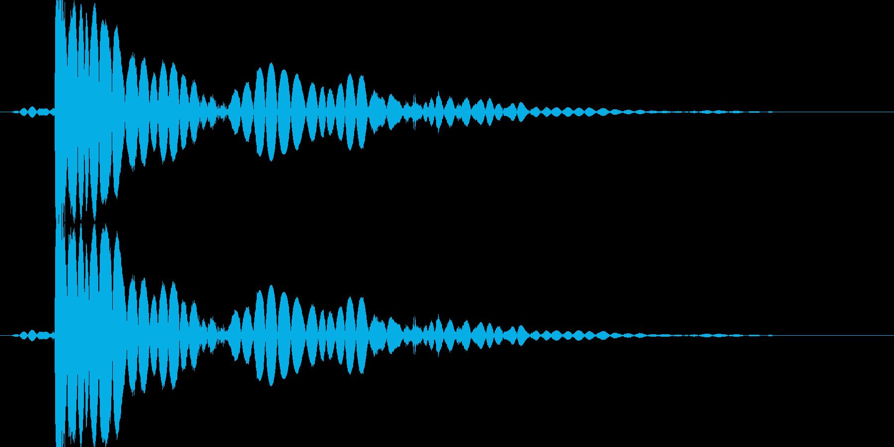 「ドスっ!」キック・蹴る3の再生済みの波形
