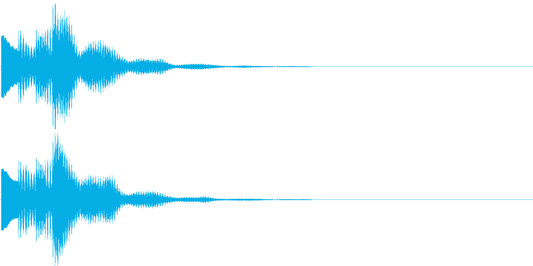 キラリラ~ン。メール着信音(残響あり)の再生済みの波形