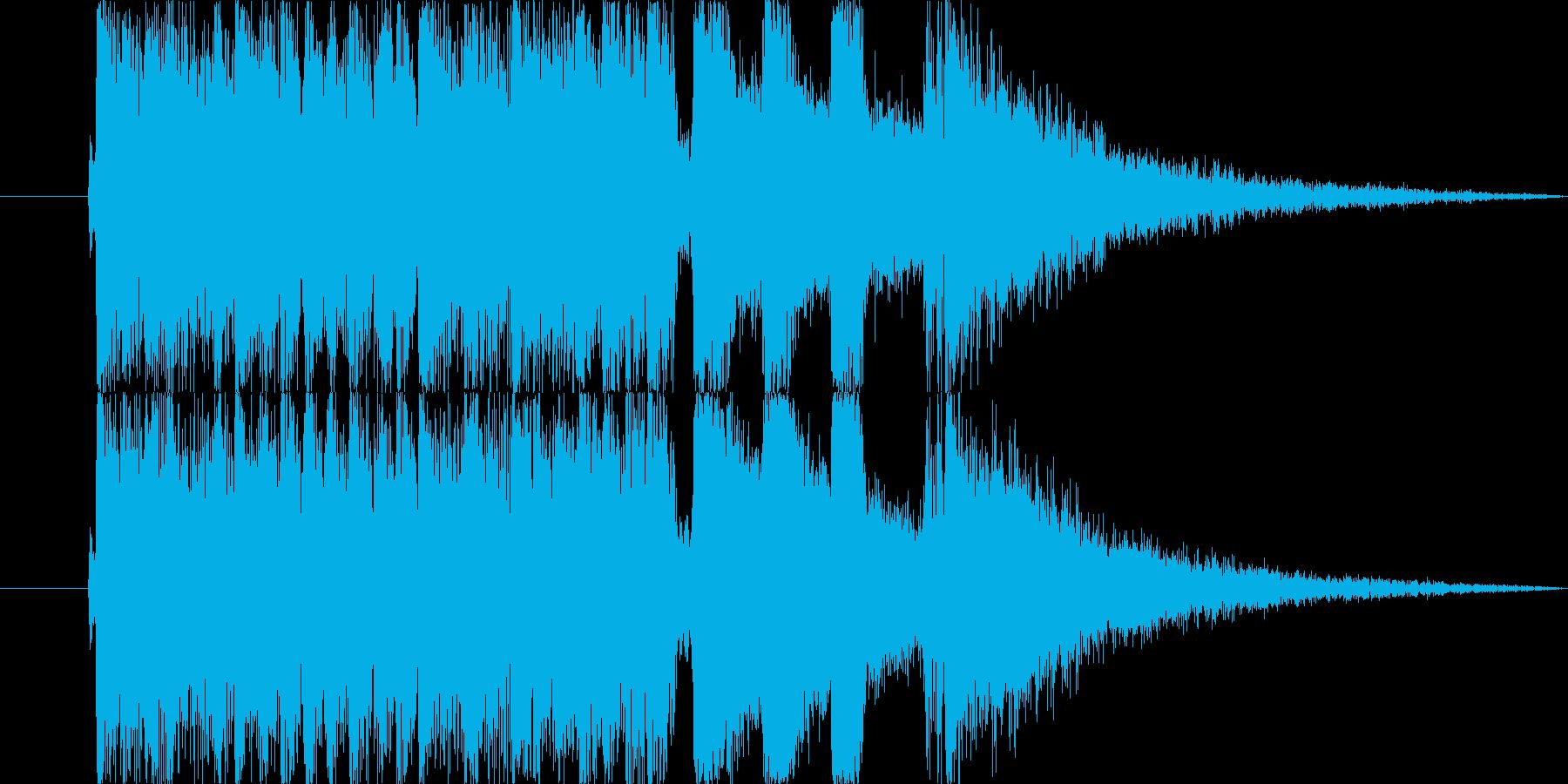 【ロック調出ばやし2】お笑いライブの再生済みの波形
