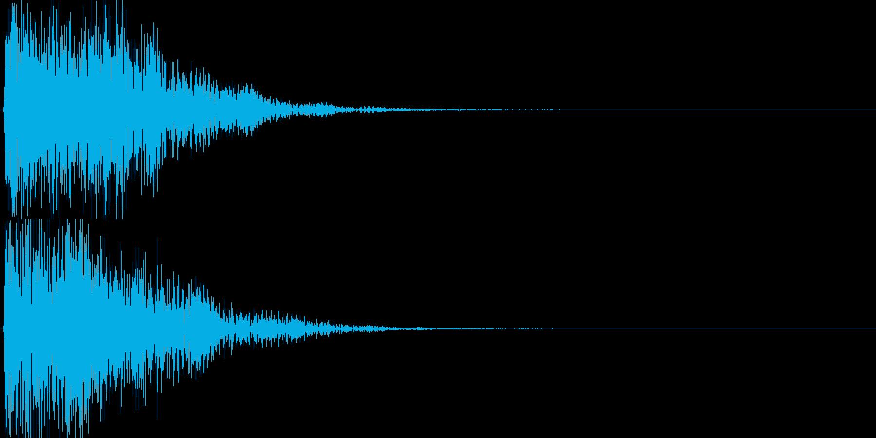 ピコ(ゲーム、アプリなどの操作音08)の再生済みの波形