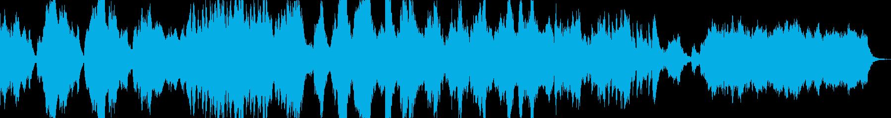 緊張感のあるピアノとストリングスの再生済みの波形