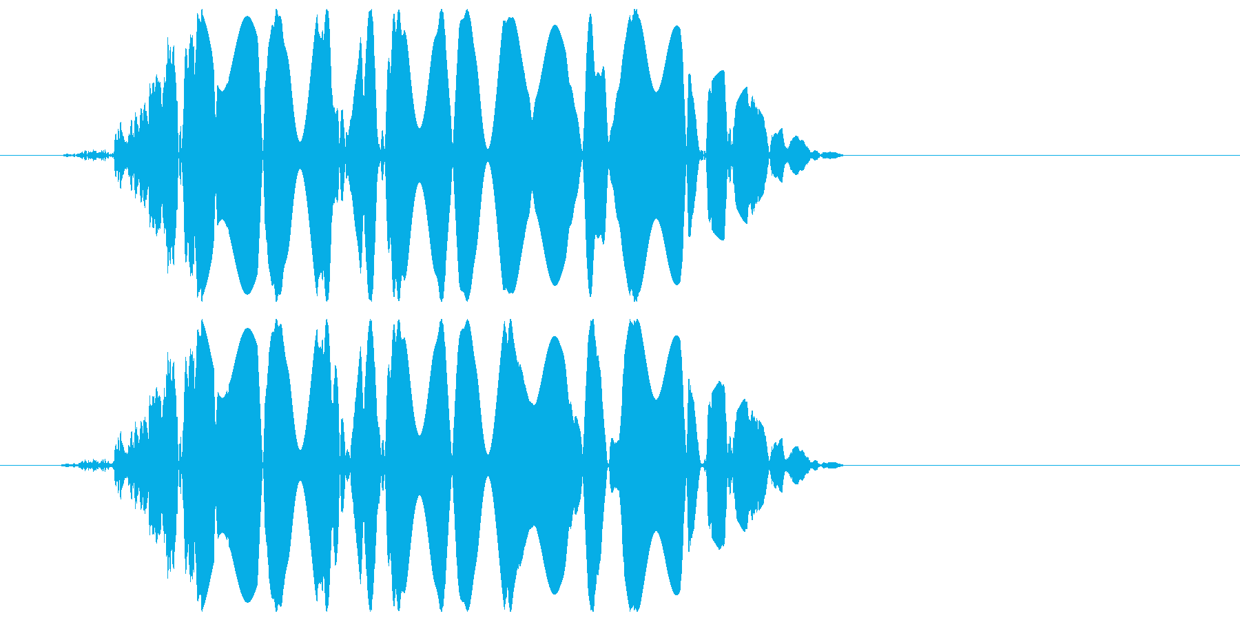 バタ(叩く殴るなどの小さめの音)の再生済みの波形