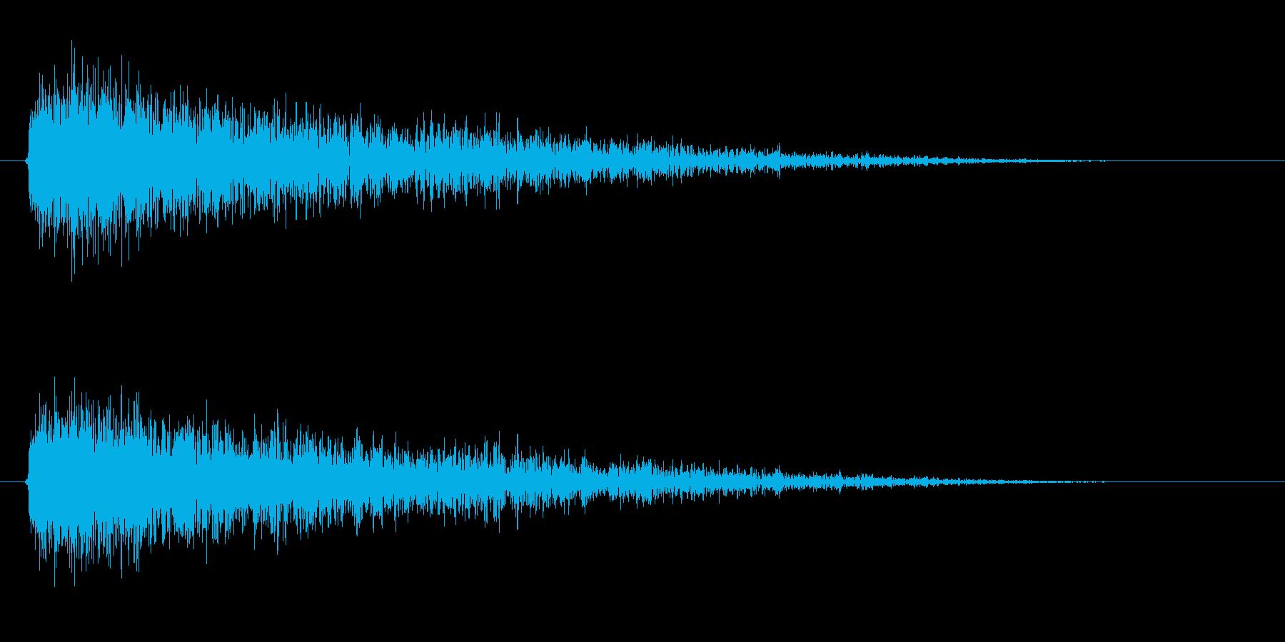 【雷 合成01-2】の再生済みの波形