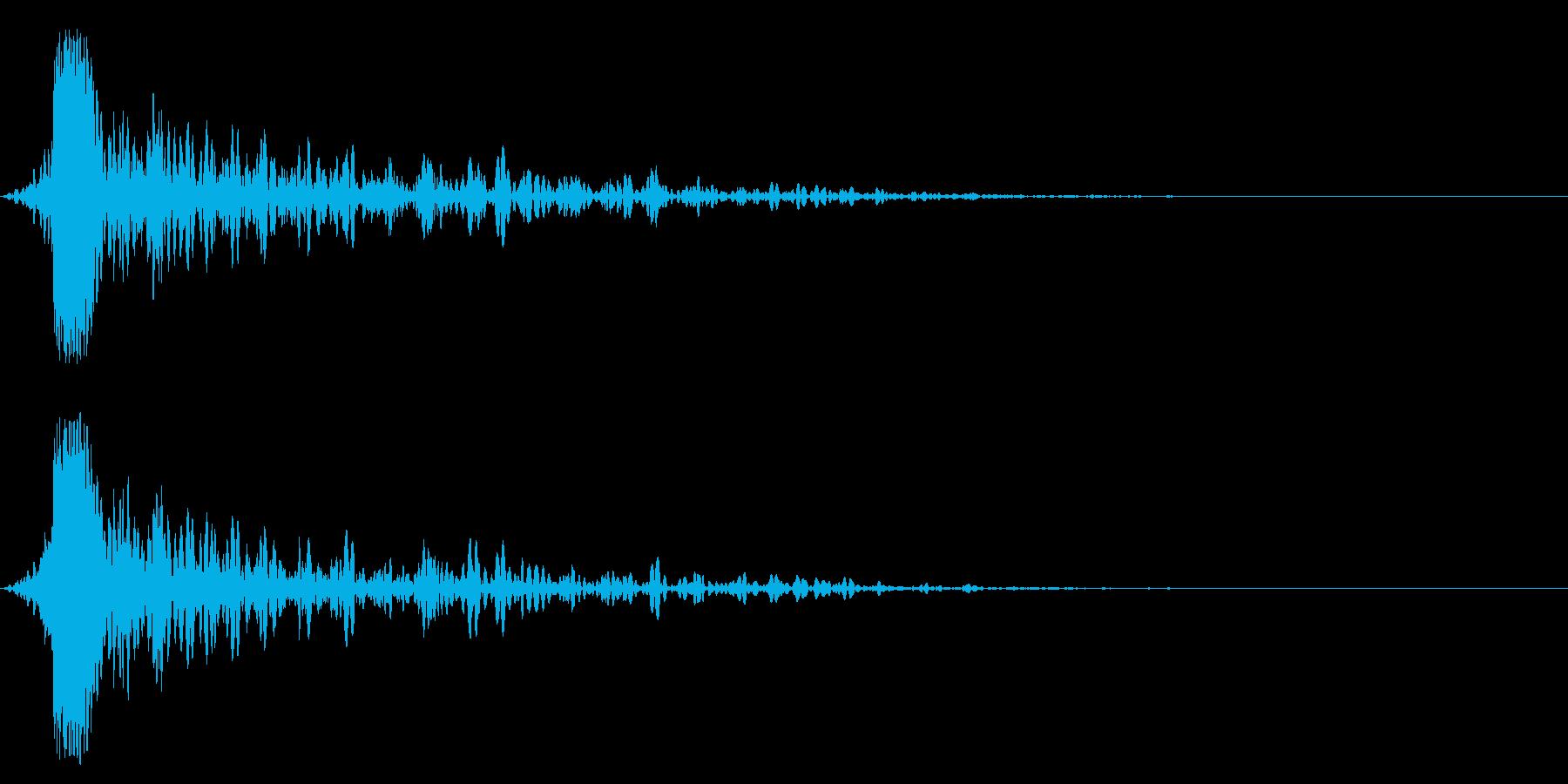 ホラー系アタック音51の再生済みの波形