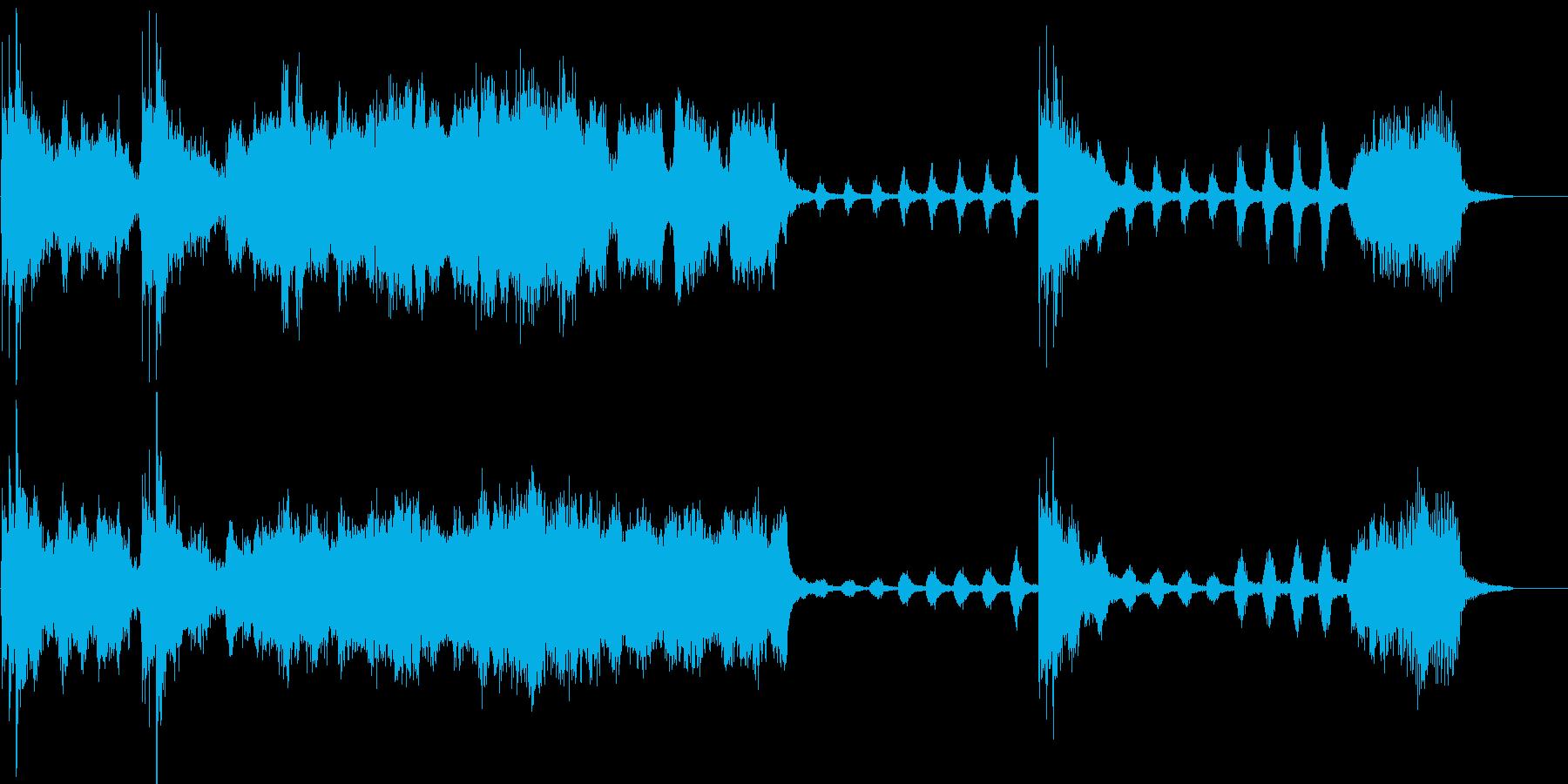 大げさなサスペンス風の曲です。の再生済みの波形