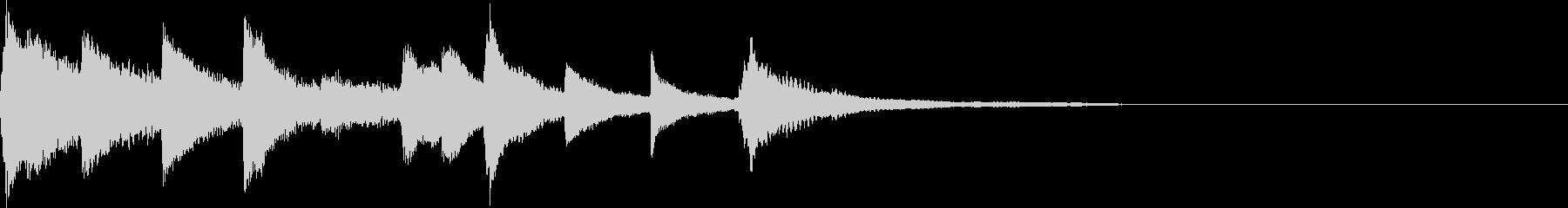 ピアノソロ アイキャッチの未再生の波形