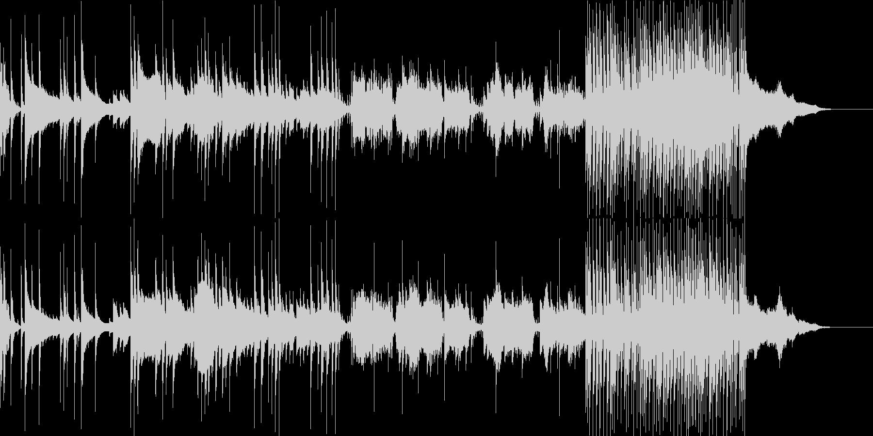 BGM 和楽器 ゆったり 琴 尺八 太鼓の未再生の波形