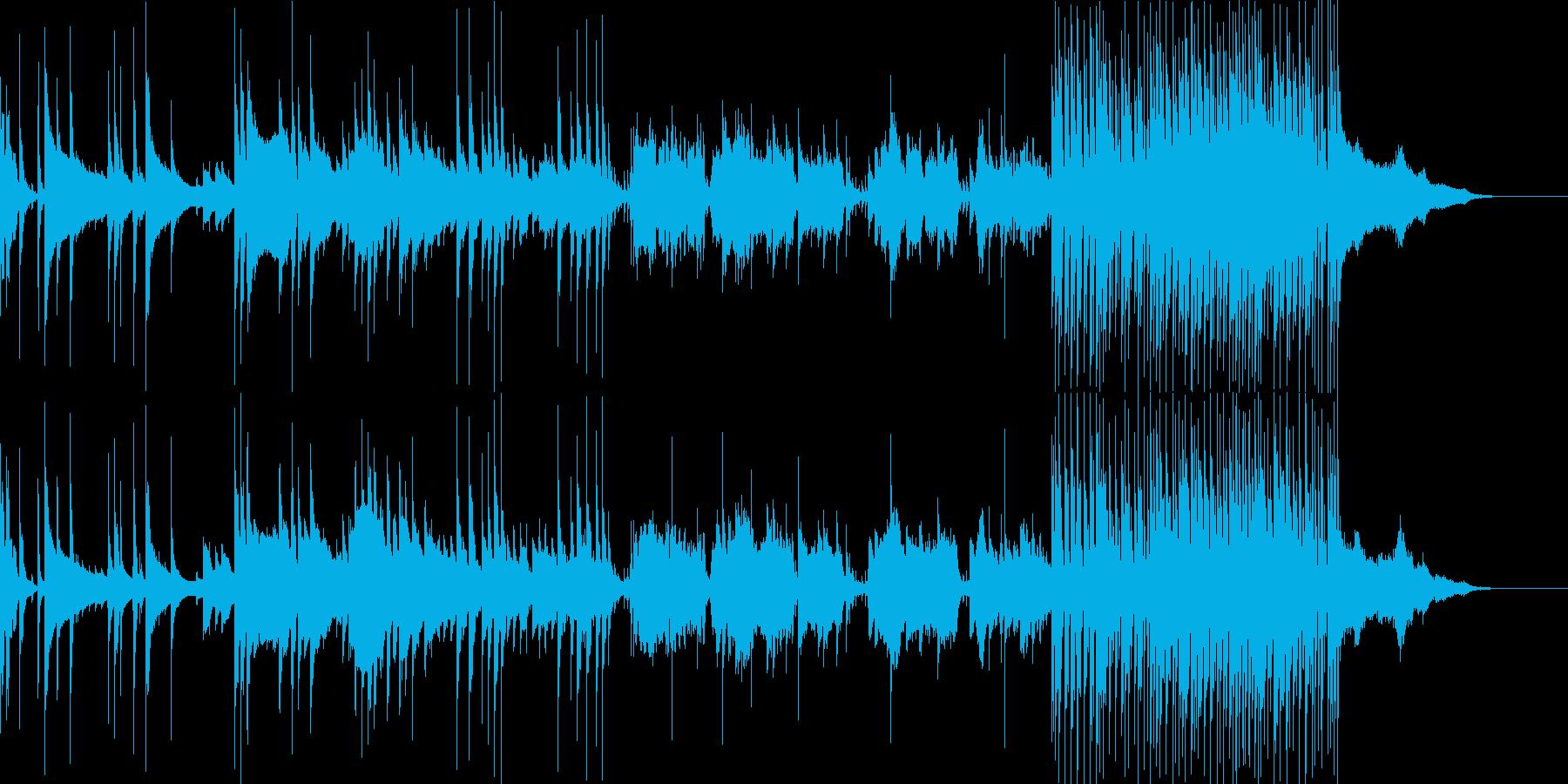 BGM 和楽器 ゆったり 琴 尺八 太鼓の再生済みの波形