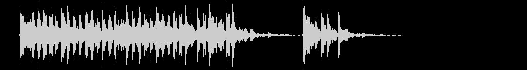 幻想的でミステリアスな音楽の未再生の波形