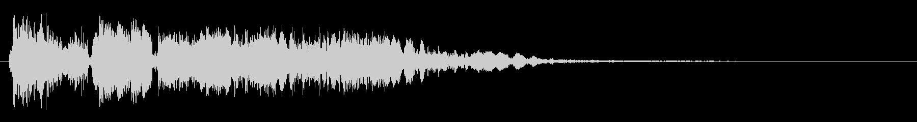 ビシュビシューン(シューティング音)の未再生の波形