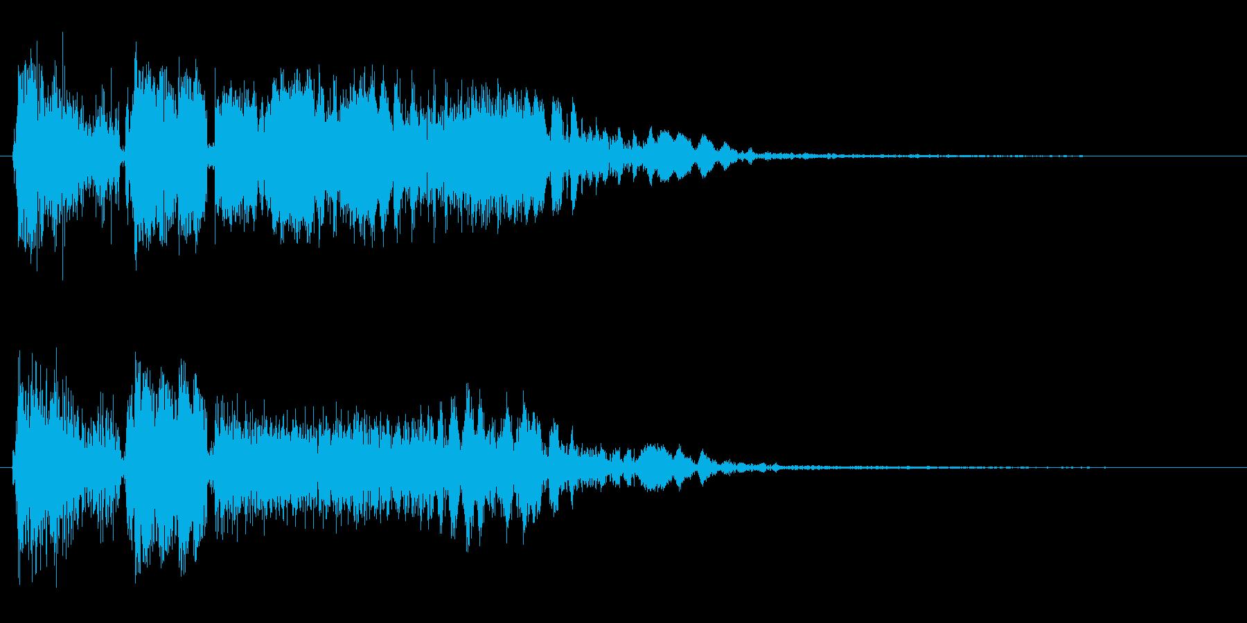 ビシュビシューン(シューティング音)の再生済みの波形