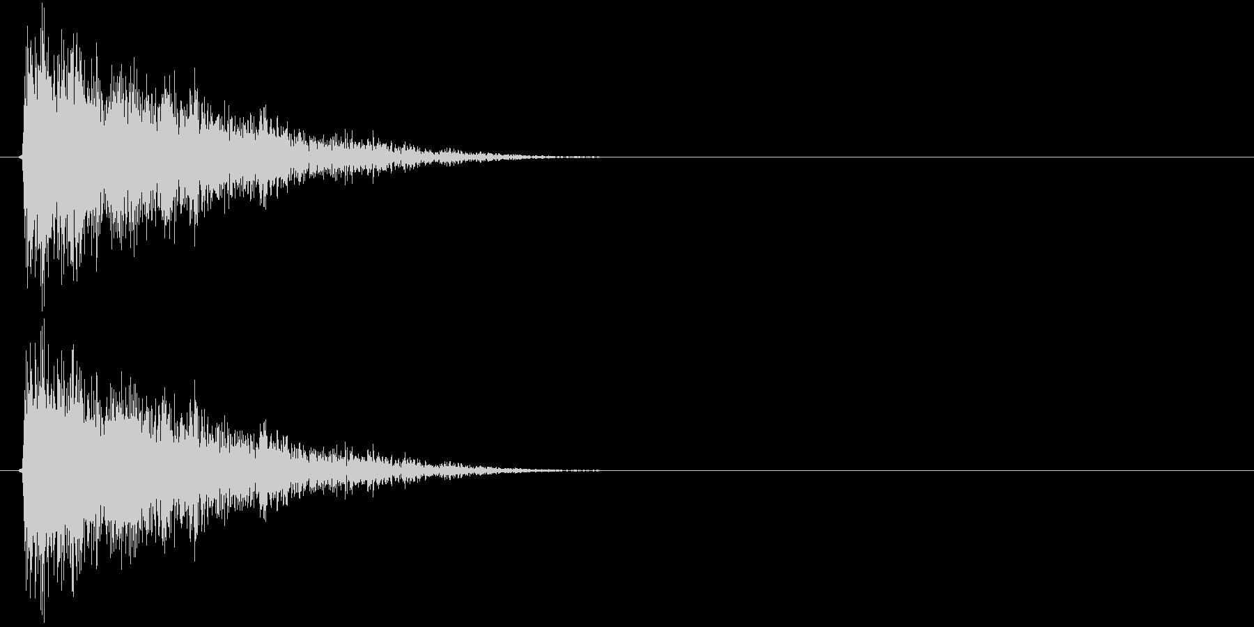 シューーン↓(STG、スピードダウン)の未再生の波形