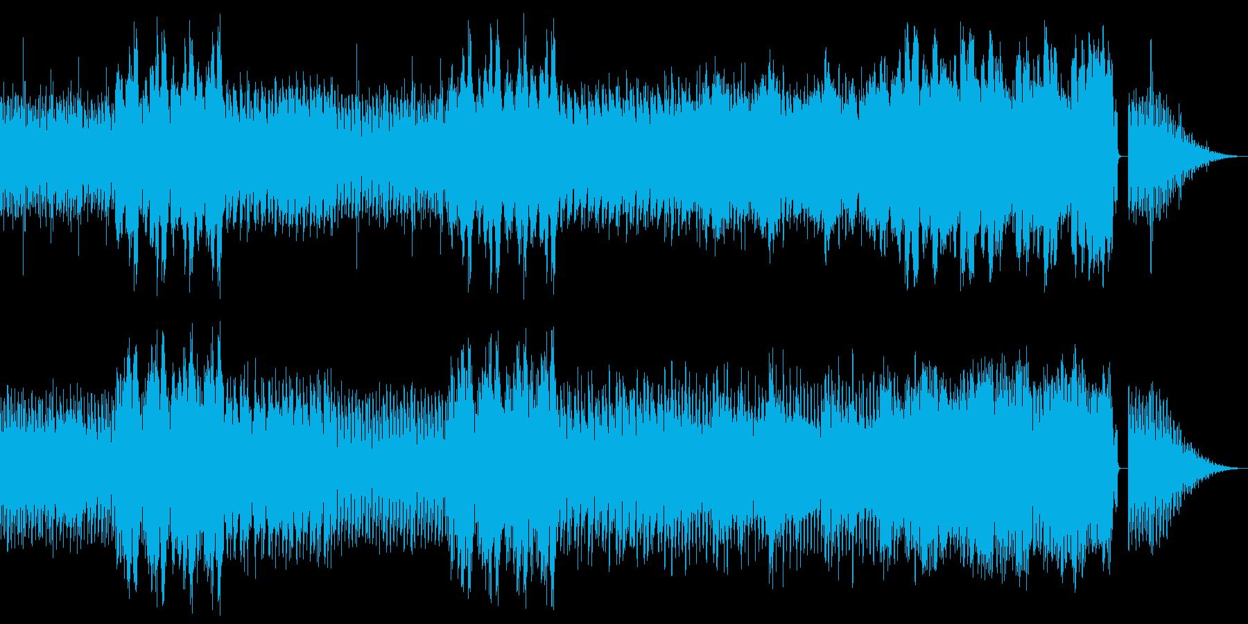 暗い町をイメージしたコミカルなBGMの再生済みの波形