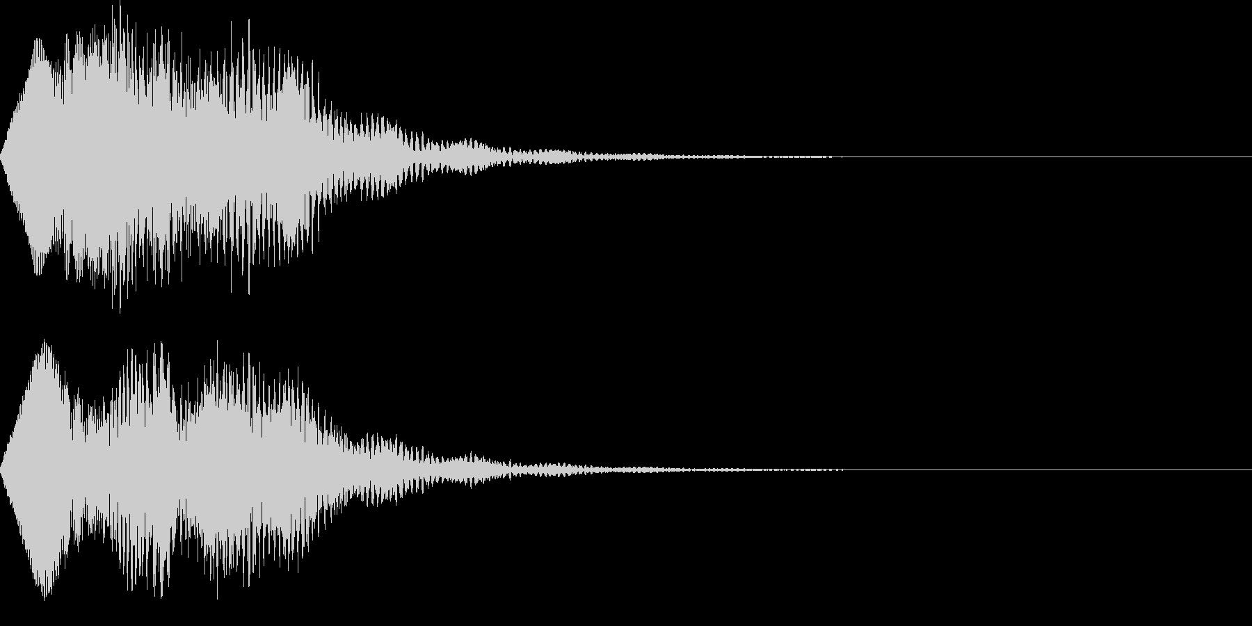 不思議な魔法の効果音の未再生の波形